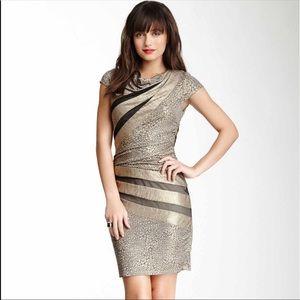 NWOT Betsey Johnson Black Gold Animal Print Dress